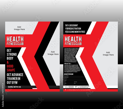 Exercise Book Cover Template ~ Quot fitness flyer template stock image and royalty free