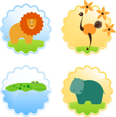 African Animals Icons