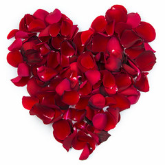 Heart of rose leafs
