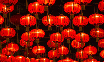Fototapeta premium Lampiony chińskiego nowego roku