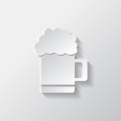 Glass of beer web icon