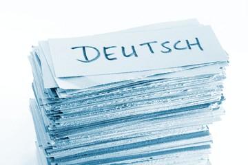 GERMAN (=Deutsch) flash cards / vocabulary cards