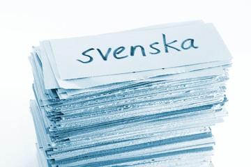 Swedish (=svenska) flash cards / vocabulary cards