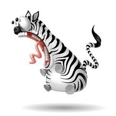 Fototapete - zebra shock