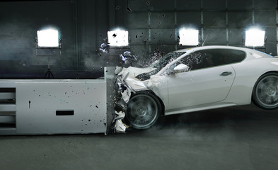 Printed kitchen splashbacks Artist KB Art photo of crashed car