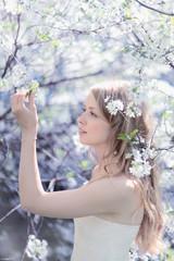 Beautiful cute girl. Spring day