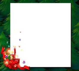 An empty christmas card template