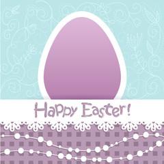 Easter egg floral card