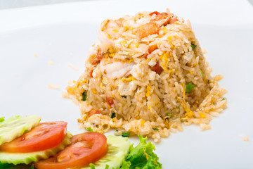 Shrimps with fried rice