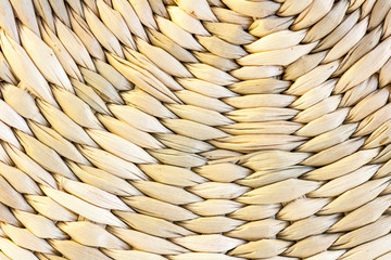 Closeup of a basket weave texture
