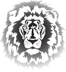 Fototapete - lion head gradient
