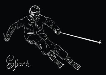 Skier sketch?