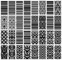 Tribal monochrome lace patterns. Vector illustration.