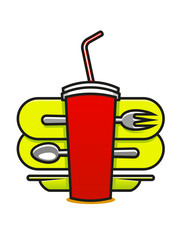 Fast food or takeaway icon