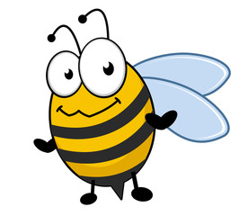 Cute little honey bee with a bemused expression