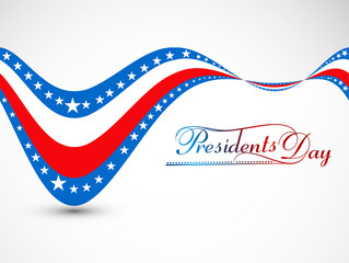 Vector President Day in United States of America for wave colorf