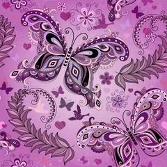 Seamless pastel pink vintage pattern