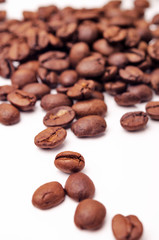 Isolated shot of coffee beans
