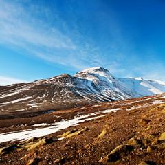 Autumn fjord landscape, captured in Iceland