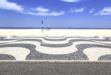 Copacabana Beach mosaic in Rio de Janeiro, Brazil