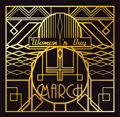 Art Deco 8 March card