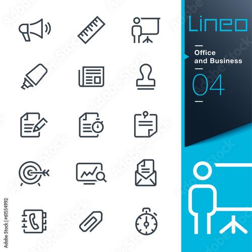 lineo office and business outline icons fichier vectoriel libre de droits sur la banque d. Black Bedroom Furniture Sets. Home Design Ideas
