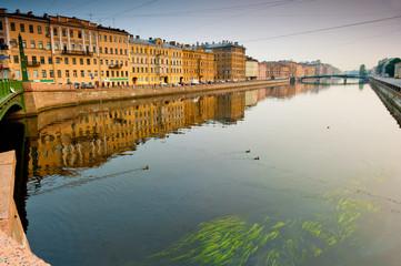 walk along the Neva river in St.Petersburg