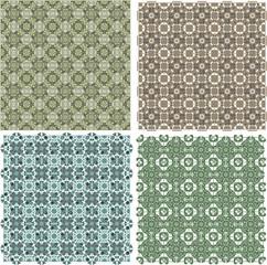Big vintage plaid patterns set background