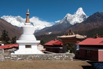 Fototapete - Stupa at Tengboche Monastery, Solukhumbu, Nepal