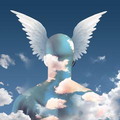 Wings upon head