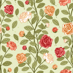 Wall Mural - Wallpaper with roses