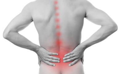Pain in the lower back in men