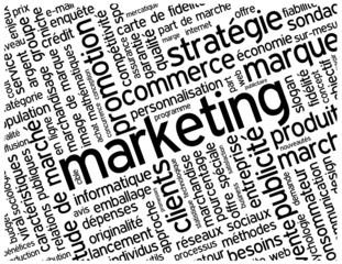 """Nuage de Tags """"MARKETING"""" (publicité stratégie communication)"""