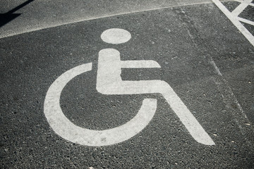 parking place for the disabled with sign