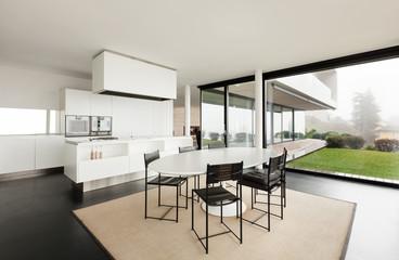 Beautiful interior of a modern villa, domestic kitchen