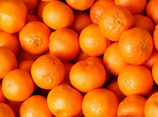 juicy clementines for sale at vegetable market
