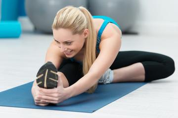 gymnastik im fitness-studio