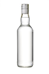 empty bottle of vodka or other alcohol