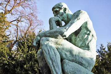 The Thinker Statue by the French Sculptor Rodin