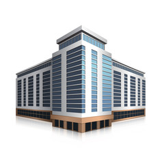 separately standing office building, business center