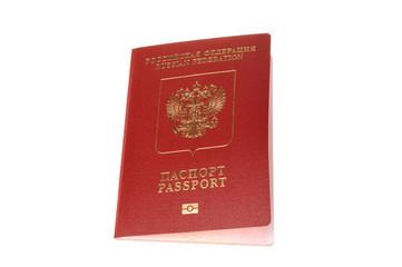 Russian international passport isolated on white