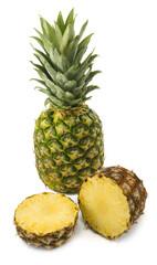 Isolated image of ripe pineapple closeup
