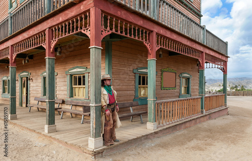 Wall mural Cowboy at Hollywood Western Town Almeria Andalusia Spain