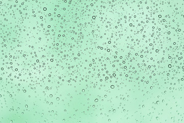 Bubbles on glass