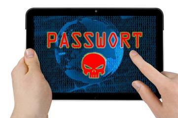 Tablet mit Passwort