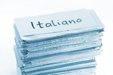 italian (=italiano) flash cards / vocabulary cards
