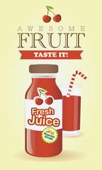 Fresh juice poster illustration