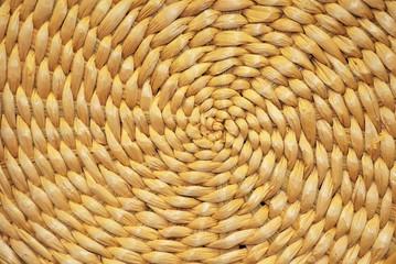 Spiral Straw Pattern Background