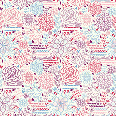 Abstract flower background pattern