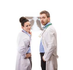 A medical team of doctors